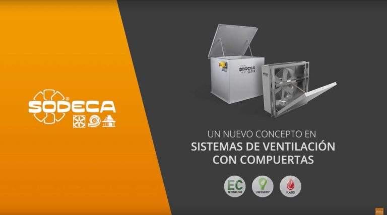 Sistemas de ventilación con compuertas de Sodeca
