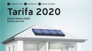 Vaillant, Nueva tarifa de precios 2020
