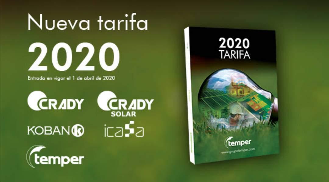 Nueva Tarifa Temper 2020