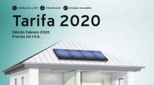 Nueva tarifa 2020 Vaillant