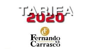 Nueva tarifa a partir 1 de Octubre 2020 de Fernando Carrasco