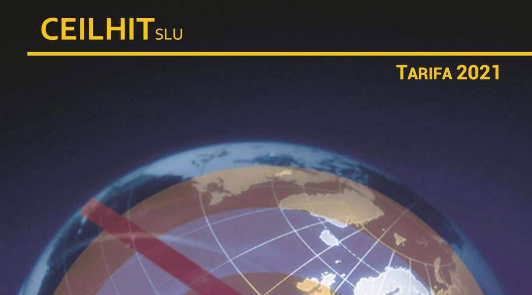 Tarifa 2021 – CEILHIT suelo radiante